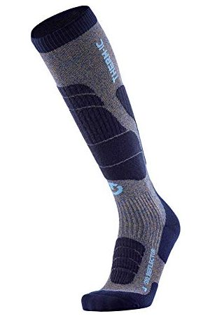 Therm-ic Chaussettes Ski Merino Reflector Men Homme, Blue/Grey, FR Taille Fabricant : XL(45-47)