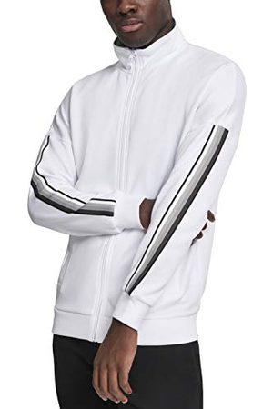 Urban classics Sleeve Taped Track Jacket Blouson, (WHT/Gry 00230), X-Large Homme