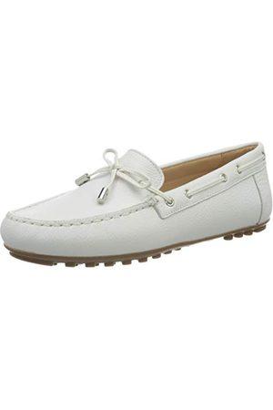 Geox D Leelyan A, Mocassins (Loafers) Femme, (White C1000), 37 EU