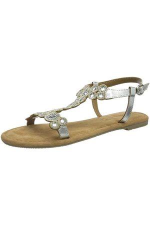 s.Oliver 5-5-28116-36, Sandale plate Femme, (Silver), 39 EU