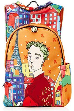 Morikukko Hooded Backpack Parismixte adulteSacs à dosMulticolore (Paris)33x8x40 Centimeters (W x H x L)