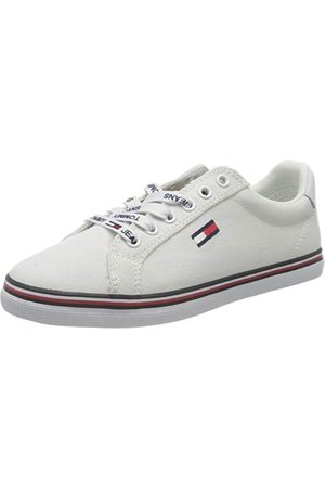 Tommy Hilfiger Essential Lace Up Sneaker, Sneakers Basses Femme, (White Ybs), 36.5 EU