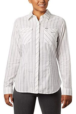 Columbia Camp Henry II Manche Longue Femme, White Stripe, FR : S (Taille Fabricant : S)