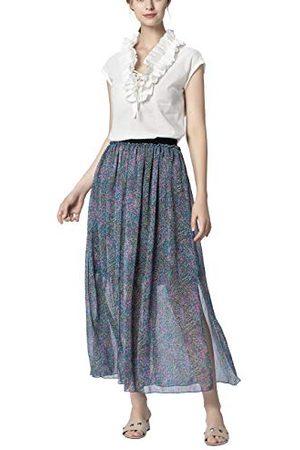 Apart Printed Skirt Jupe, (Petrol-Multicolor Petrol-Multicolor), 44 (Taille Fabricant: 42) Femme