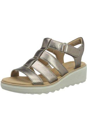 Clarks Jillian Quartz, Sandale cale Femme, Metallic Synthetic, 39.5 EU