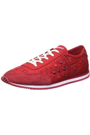 Desigual Shoes_Royal_Exotic, Sneakers Woman Femme, Red, 36 EU