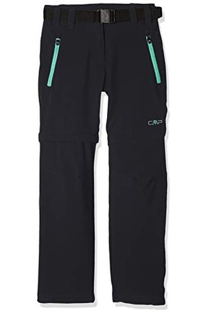 CMP Zip Off Dry Function Trousers Pantalons Fille, (Anthracite-aquamint), 110