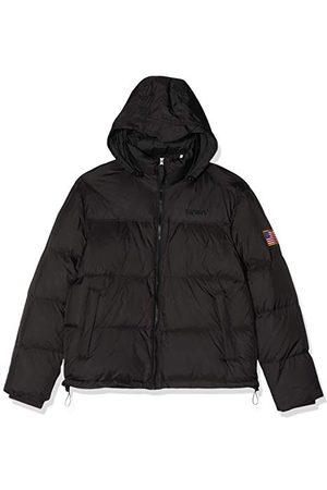 Mister Tee Herren NASA Two-Toned Puffer Jacket Jacke, Schwarz (Black 00007), X-Small (Herstellergröße: XS)