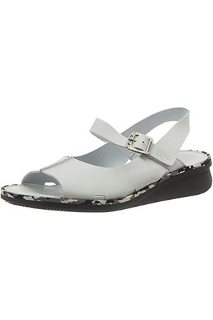 Fly London Cult398fly, Sandales Bout Ouvert Femme, Écru (Offwhite (Grey Mid Sole) 009), 38 EU