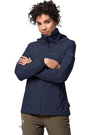 Jack Wolfskin Stormy Point Veste Hard Shell Femme, Midnight Blue, FR (Taille Fabricant : XS)
