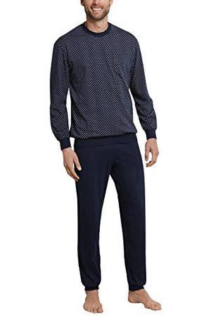 Schiesser Pyjama Long pour Hommes avec Poignets, ( Foncé 803), 58
