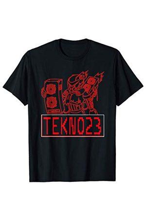 Système audio Tekno Spiral Tekno Bass Mecha 23 Hardtekk Frenchcore Roboter T-Shirt