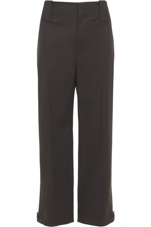 Bottega Veneta Pantalon Imperméable En Coton Stretch