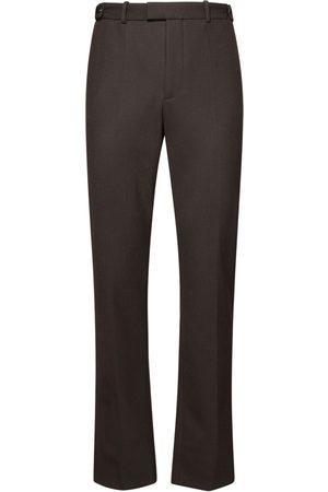 Bottega Veneta Homme Pantalons classiques - Pantalon En Sergé De Laine Mélangée Taille Haute