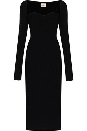Khaite Femme Robes en maille - Robe Beth en maille nervurée