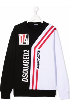 Dsquared2 TEEN logo striped long-sleeved top
