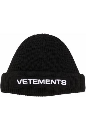 Vetements Bonnets - Embroidered-logo ribbed beanie