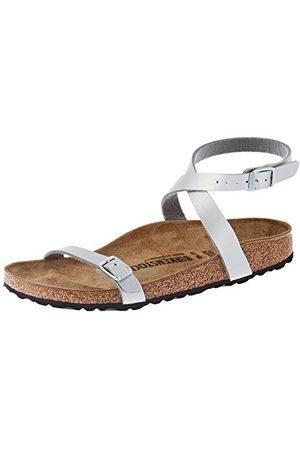 Birkenstock Sandales DALOA Birko-Flor, Femme, Silver, 35 EU