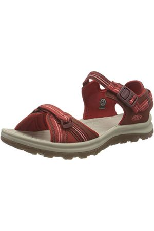 Keen Terradora 2 Open Toe, Sandale de sport Femme, Dark Red/Coral, 26 EU