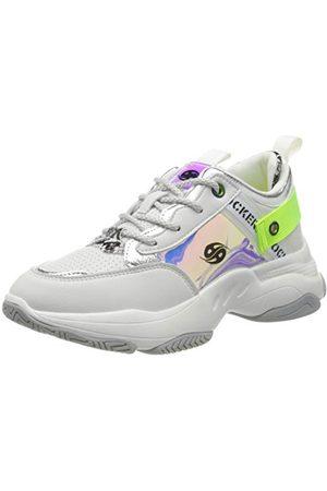 Dockers Femme Chaussures - 46ac201-610509, Sneakers Basses Femme, (Weiss/Multi 509), 42 EU