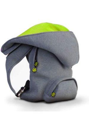 Morikukko Hooded Backpack Grey Neon Yellowmixte adulteSacs à dosGris (Grey Neon Yellow)33x8x40 Centimeters (W x H x L)