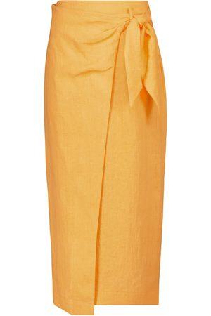Nanushka Femme Jupes asymétriques - Jupe portefeuille Randi en lin