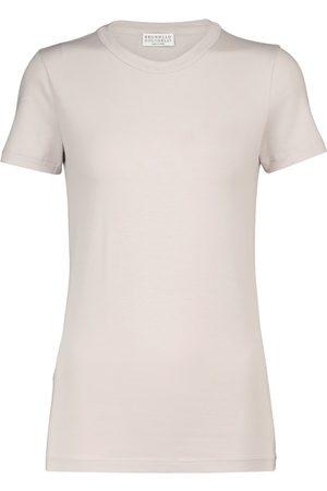 Brunello Cucinelli Femme Manches courtes - T-shirt en coton