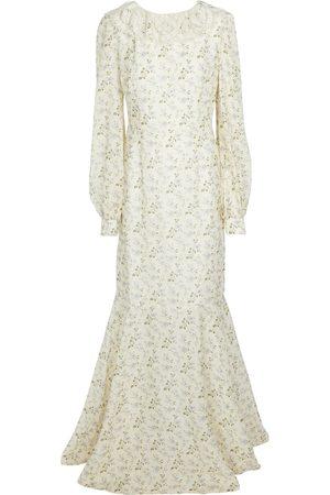 BROCK COLLECTION Femme Robes imprimées - Robe longue en lin et coton à fleurs