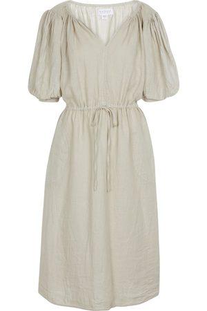 Velvet Femme Robes longues - Robe midi Susannah en lin