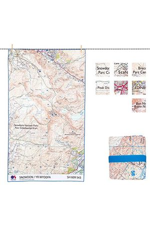 Lifeventure 63083 SoftFibre OS Map TowelGiant (Scafell Pike) Unisex-Adult, Multicolour