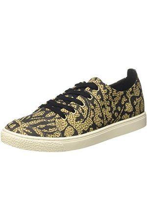 Borbonese 6DG903F59, Sneakers Basses FemmeVertVert (Safari Cachemire/Ner N59), 36 EU EU