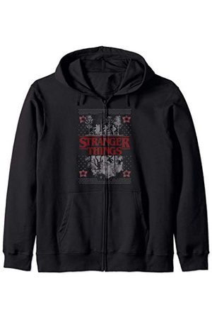Stranger Things Netflix Ugly Christmas Sweater Style Sweat à Capuche