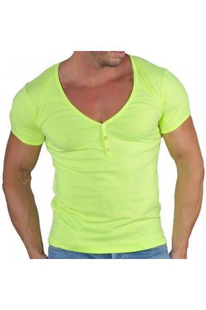 Roberto Lucca T-Shirt Col Tunisien Profond Microfibre Fluo