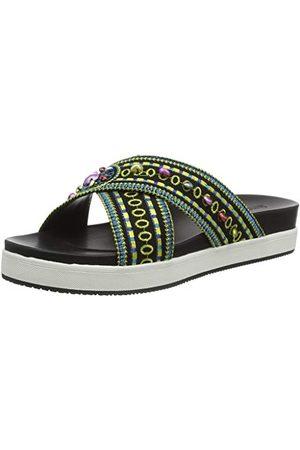 Desigual Shoes NILO Beads, Sandales Plateforme Femme, Negro 2000, 36 EU