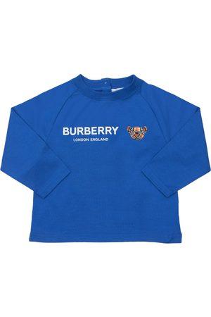 Burberry T-shirt Manches Longues En Jersey De Coton À Logo