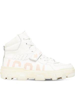 "Dsquared2 Sneakers En Cuir ""icon Basket"" 30 Mm"
