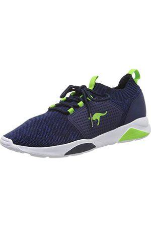 KangaROOS K-Nock, Sneakers Basses Mixte Adulte, (DK Navy/Lime 4054), 37 EU