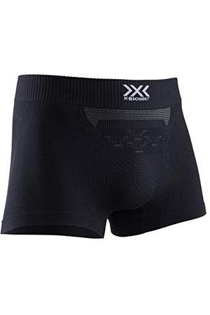 X-BIONIC Energizer 4.0 Light Boxer Shorts Men Homme, Opal Black/Arctic White, FR : L (Taille Fabricant : L)