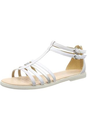 Geox KARLY GIRL, Sandales Bout Ouvert Femme, (White C1000), 36 EU