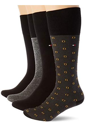Tommy Hilfiger Th Men Tin Giftbox Kneehigh 4p One Row chaussettes, , 39/42 (lot de 4) Homme