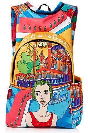 Morikukko Hooded Backpack Istanbulmixte adulteSacs à dosMulticolore (Istanbul)33x8x40 Centimeters (W x H x L)