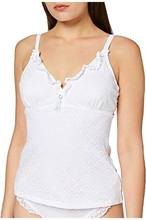 Pour Moi ? Castaway Underwired Halter Tankini Top, Tankinis Femme, (White White), 85G (Taille Fabricant: 32F)
