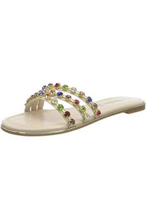 Buffalo Rita Diamonds, Sandale Plate Femme, Multi Stones, 39 EU