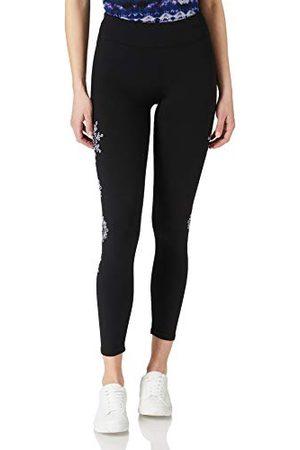 Desigual Legging Mandala Swiss EMB Pantalon décontracté, , Taille L Femme