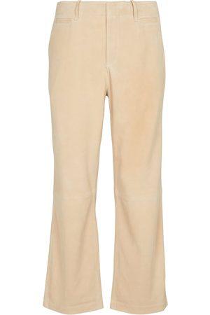 Frame Pantalon Le Tomboy à taille haute en daim