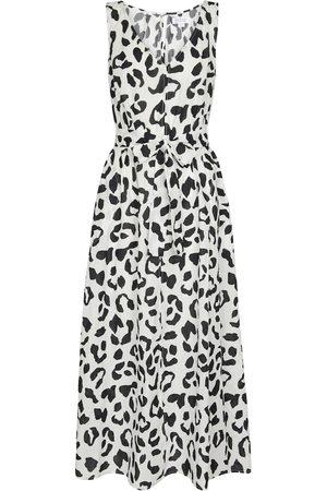 Velvet Robe longue Giselle imprimé léopard en coton