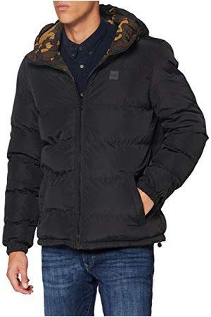 Urban classics Reversible Hooded Puffer Jacket Vestes, /Camouflage en Bois, XXL Homme