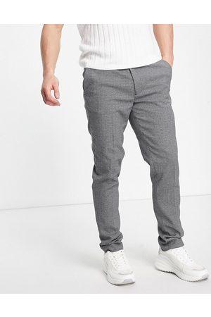ASOS Pantalon élégant texturé coupe super skinny - Gris