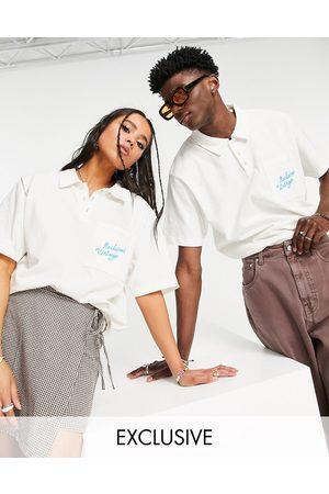 Reclaimed Inspired - Polo unisexe à coutures contrastantes - cassé