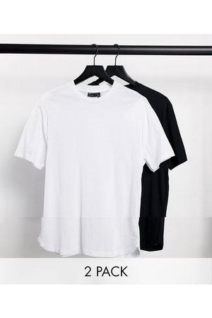 ASOS Lot de 2 t-shirts à ourlet arrondi